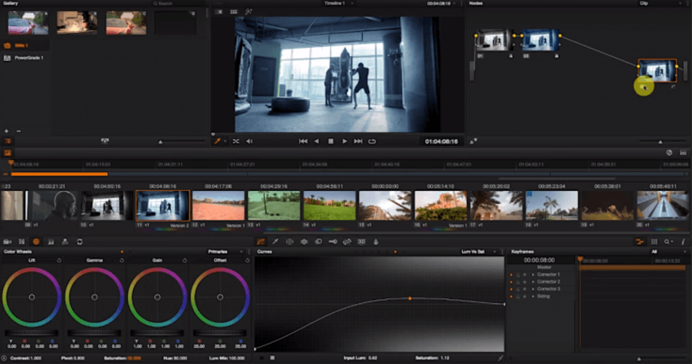 Color correction and grading process of commercial video